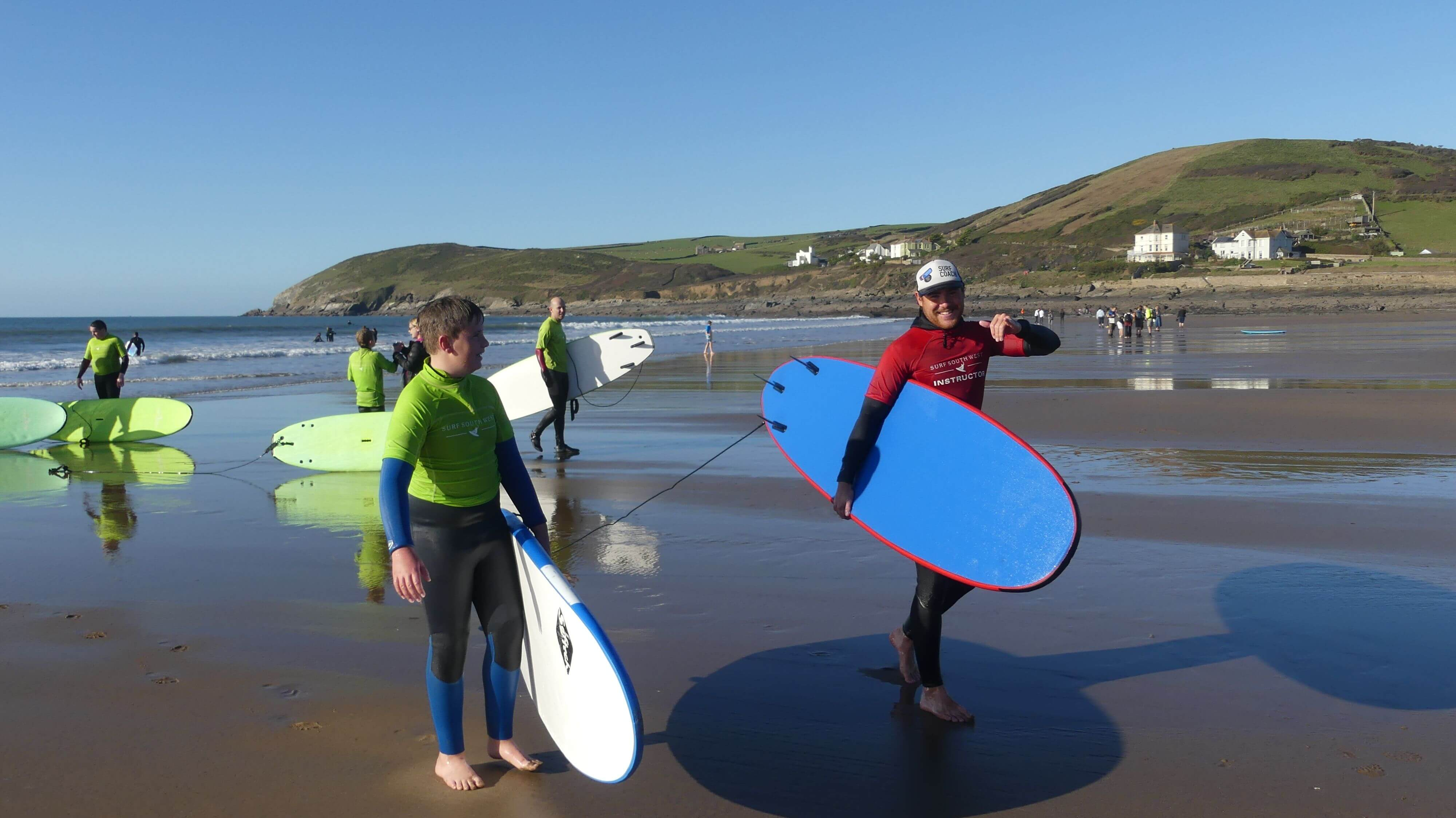 Surf Instructor with student
